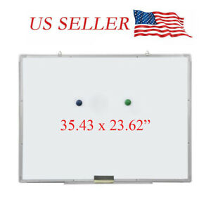 Magnetic Whiteboard Dry Erase White Drawing Board Wall Hanging Board 36 X 24inch