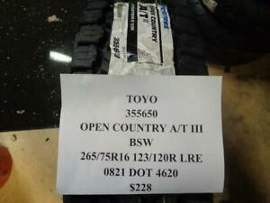 1 New Toyo Open Country At Iii Bsw 265 75 16 123 120 Lre Tires 355650