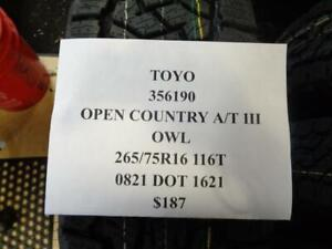 1 New Toyo Open Country At Iii Owl 265 75 16 116 Tires 356190