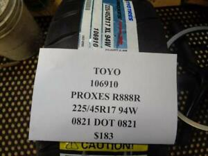 1 New Toyo Proxes R888r 225 45 17 94 Tires 106910