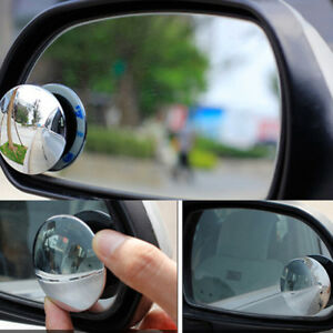 2pcs Universal Car 360 Wide Angle Convex Rear Side View Blind Spot Mirro C Sm