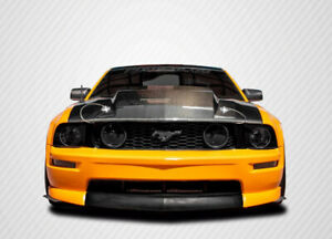 Carbon Creations 2 5 Inch Cowl Hood 1 Piece For 2005 2009 Mustang
