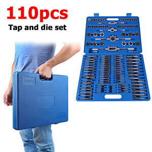 110pcs Tap And Die Combination Set High Speed Steel Metric Tools M2 m18