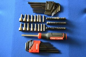Craftsman 78 Pc Handle Nut Driver Bits Screw Bits Allen Wrench 342a