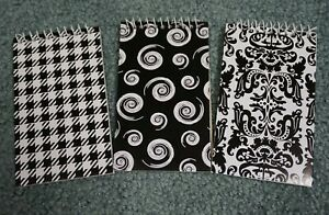 Lot Of 3 New Black white Small Note Books 3 X 5 For Office School notebooks