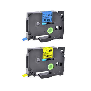 2 compatible With Brother Tz Tze 531 631 0 47 Black On Blue yellow Label Tape