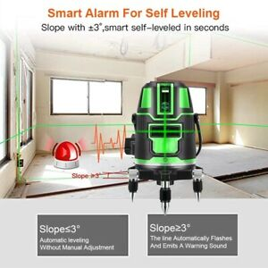 3 Cross Lines Green Laser Level Self leveling 360 Rotatable Laser Measuring Tool