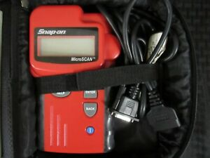 Snap on 2002 Microscan Scanner W cable Case Manual