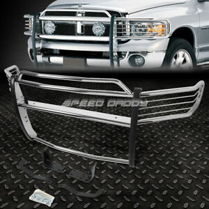 For 02 05 Dodge Ram 1500 3500 Chrome Stainless Steel Front Bumper Grill Guard