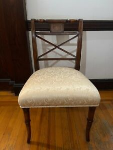 Antique Upholstered Dining Room Chairs Set Of 8