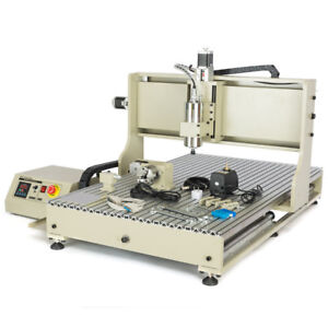 Usb 4 Axis Cnc 6090 Router Engraver Machine Wood Drilling Milling 2200w Vfd