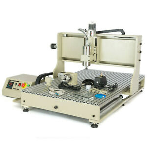 Usb 4 Axis 6090z Cnc Router Engraver Engraving Drilling Milling Machine 1500w Us