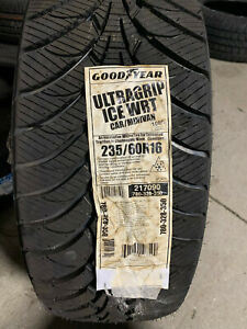 New Listing4 New 235 60 16 Goodyear Ultra Grip Ice Wrt Snow Tires Fits 23560r16