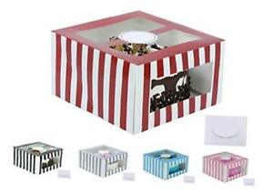 Cardboard Cake Boxes 10 X 10 X 6 Inch Tall Cake Box Set With Cake Boards Red