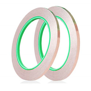 2 Rolls Copper Foil Tape 1 4 Inch X 21 8 Yard With Conductive Adhesive For Emi
