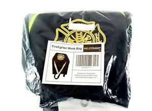 Melotough Firefighter Turnout Scba Mask Bag With Fire Logo And Reflective Strips