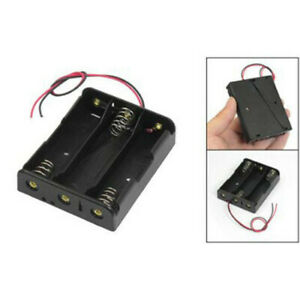 For 3x18650 3 7v With Wire Leads Plastic Battery Storage Case Box Holder A3gu