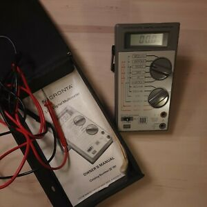 Vintage Micronta Lcd Digital Multimeter Cat No 22 191 With Case And Manual