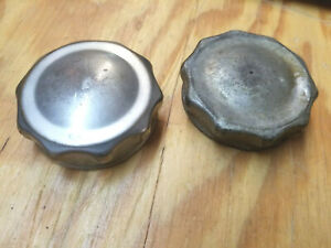 2 Vintage 1930s 1940s Car Truck Threaded Radiator Caps Unknown Vehicle