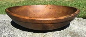 Antique New England Old Wood Dough Bread Bowl 13 1 8 Country Farm Great Patina