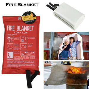 Large Fire Blanket Fireproof For Home Kitchen Office Caravan Emergency Safety