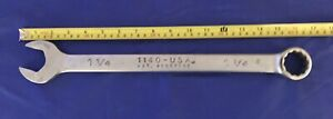 Wright Grip 1 1 4 Inch Open Box End Combination Wrench 12 Pt 1140 Usa