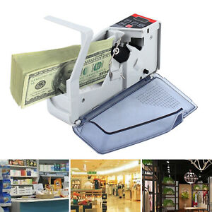 Automatic Money Counter Machine Portable Currency Cash Bank Bill Counter Machine