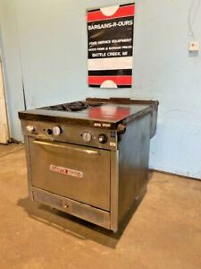 south Bend H duty Commercial Nat Gas 2 Burners Range With 16 Griddle Oven