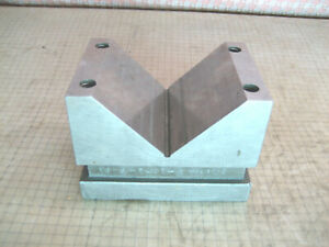 Machinist Tool Maker V Block 4 x2 7 8 x2 7 8 Hardened Grind Fixture No Clamps