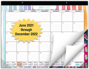 Desk Calendar 2021 2022 Large Monthly Pages 22 x17 Runs From June 2021 Thr