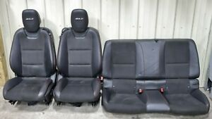 2012 2015 Camaro Zl1 Black Leather W Suede Front Rear Seats Used Oem Gm
