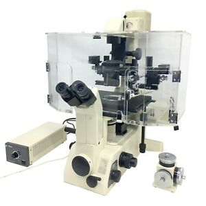 Nikon Diaphot 300 Inverted Fluorescence Phase Contrast Microscope W enclosure