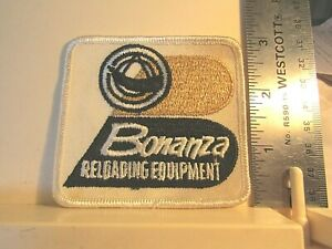 Vintage Bonanza Reloading Equipment Patch Ammo Bullets Press Dies unused stained $4.49