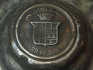 Cadillac Standard Of The World Wheel Center Rim Grease Cup Cap Hub Cover Brass