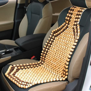 Massage Car Seat Cover Wood Beaded Cushion Roller Chair Long Drive Back Comfort