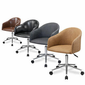 Pu Leather Office Chair Swivel Desk Task Chair Adjustable Computer Gaming Chair