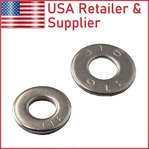 Flat Washer 18 8 304 And 316 Stainless Steel Uss And Sae 2 4 6 8 10 12