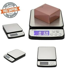 110 Lbs Digital Postal Shipping Parcel Package Scale Lcd Battery Adapter Lb kg