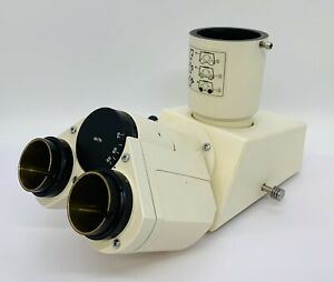 Zeiss Microscope Trinocular Head With Photo Tube 452910 For Axioskop Others