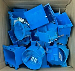 Carlon New Work Pvc Electrical Wall Box horizontal 37 Different Pieces Total