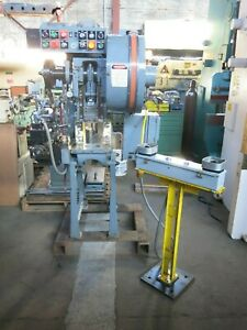 Perkins 9 Ton Air Clutch Punch Press With Roll Feeder
