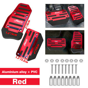 Non Slip Automatic Gas Brake Foot Pedal Pad Cover Car Accessories Parts Red