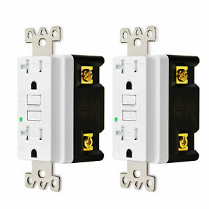 20a Tamper resistant Gfci Safety Receptacle outlet White 2 Pack
