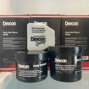 Devcon 10110 Plastic Steel Putty a 1 Lbs Kit Metal Filled Epoxy Dhl Shipping
