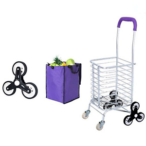 35l Stair Climbing Cart Folding Grocery Laundry Shopping Handcart Durable Us