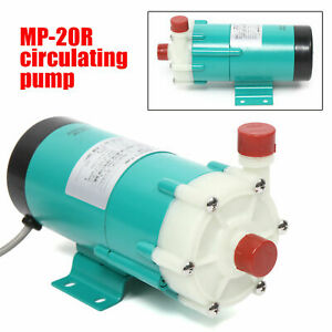 Industrial Chemical Magnetic Drive Circulation Water Pump 17l min 110v Mp 20r Us