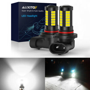 Auxito 9145 9140 H10 Led Fog Driving Light 6000k High Power Bulbs Canbus 2000lm