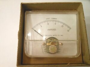 Vintage Ideal Precision Dc 0 15 Ampers Panel Meter 250 Steampunk