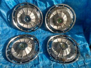 1962 Chevrolet Impala Bel Air Biscayne 14 Hubcaps Wheel Covers Set