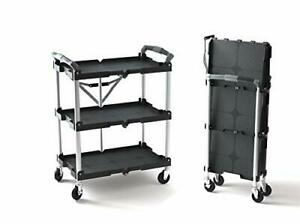 Olympia Tools 85 188 Pack n roll Folding Collapsible Service Cart Black 50 Lb